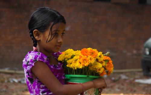 Gadis Penjual Bunga
